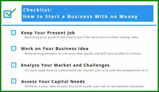 begin a small business without any Money list